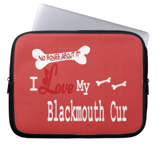 I Love My Blackmouth Cur Laptop Sleeve