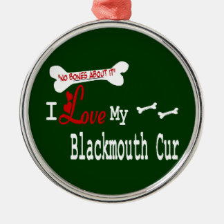 I Love My Blackmouth Cur Metal Ornament