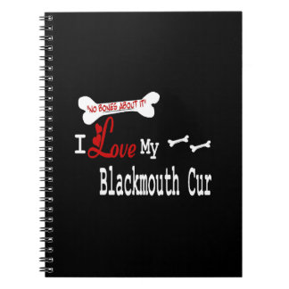 I Love My Blackmouth Cur Notebook