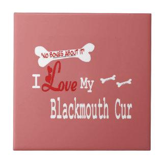 I Love My Blackmouth Cur Tile