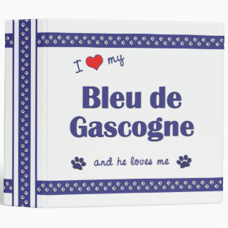 I Love My Bleu de Gascogne (Female Dog) Binders