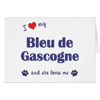 I Love My Bleu de Gascogne (Female Dog) Card
