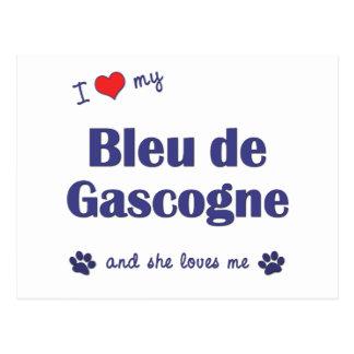 I Love My Bleu de Gascogne (Female Dog) Postcard