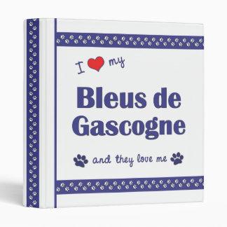 I Love My Bleus de Gascogne (Multiple Dogs) Binder