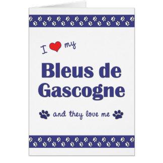 I Love My Bleus de Gascogne (Multiple Dogs) Card