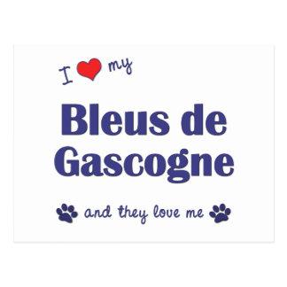 I Love My Bleus de Gascogne (Multiple Dogs) Postcard