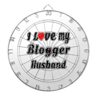 I Love My Blogger Husband Dartboard With Darts