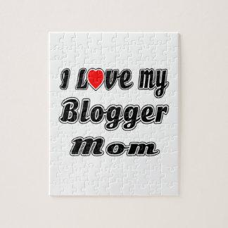 I Love My Blogger Mom Puzzles