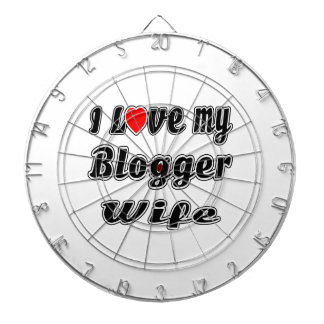 I Love My Blogger Wife Dart Board