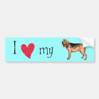 I Love my Bloodhound Bumper Sticker