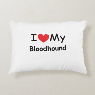I love my Bloodhound dog Accent Pillow