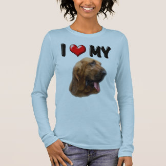 I Love My Bloodhound Long Sleeve T-Shirt