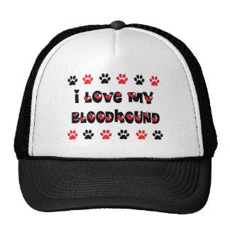 I Love My Bloodhound Trucker Hat