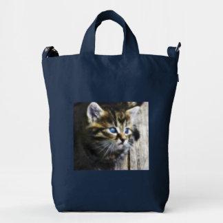 I Love My Blue Eyes Cat Duck Canvas Bag