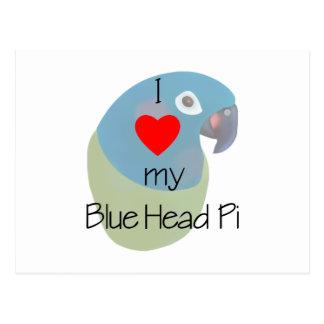 I Love My Blue Head Pi (painting) Postcard