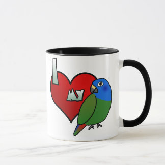 I Love my Blue Headed Pionus Mug