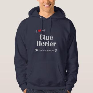 I Love My Blue Heeler (Female Dog) Hoodie
