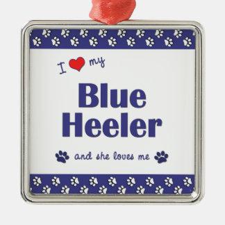I Love My Blue Heeler (Female Dog) Metal Ornament