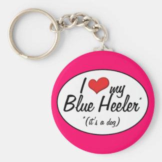 I Love My Blue Heeler (It's a Dog) Keychain