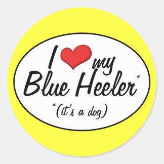 I Love My Blue Heeler (It's a Dog) Classic Round Sticker