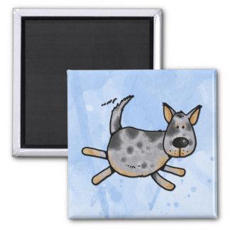i love my blue heeler l 2 inch square magnet