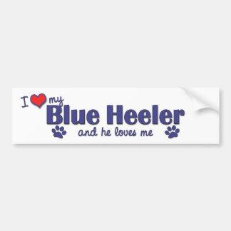 I Love My Blue Heeler (Male Dog) Bumper Sticker