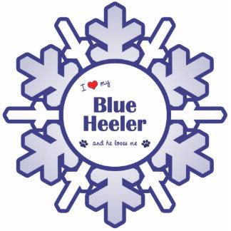 I Love My Blue Heeler (Male Dog) Photo Cutout