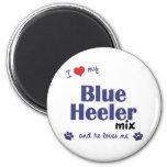 I Love My Blue Heeler Mix (Male Dog) Fridge Magnet