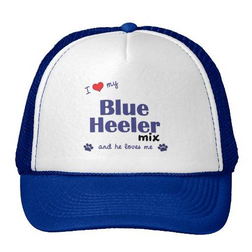 I Love My Blue Heeler Mix (Male Dog) Mesh Hats