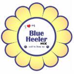 I Love My Blue Heeler Mix (Male Dog) Acrylic Cut Out