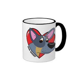 I Love my Blue Heeler Mug (Cartoon)