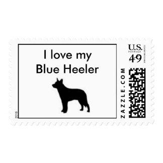 I love my Blue Heeler Postage