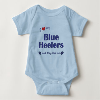 I Love My Blue Heelers (Multiple Dogs) Baby Bodysuit