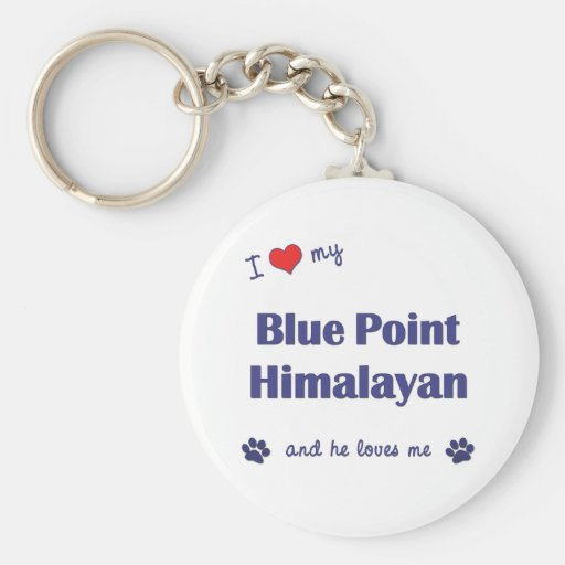 I Love My Blue Point Himalayan (Male Cat) Keychains