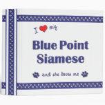 I Love My Blue Point Siamese (Female Cat) 3 Ring Binders