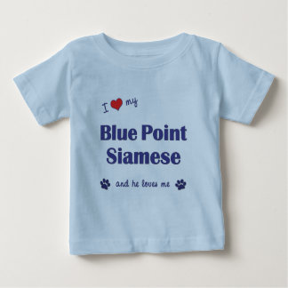 I Love My Blue Point Siamese (Male Cat) Baby T-Shirt