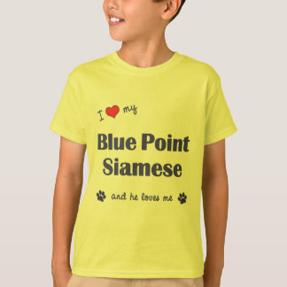 I Love My Blue Point Siamese (Male Cat) T-Shirt