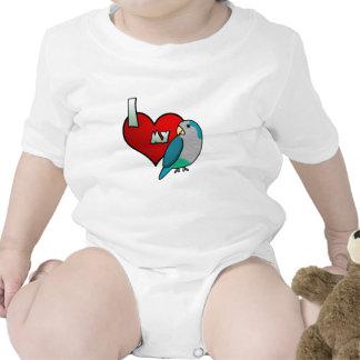 I Love my Blue Quaker Parakeet Baby Creeper