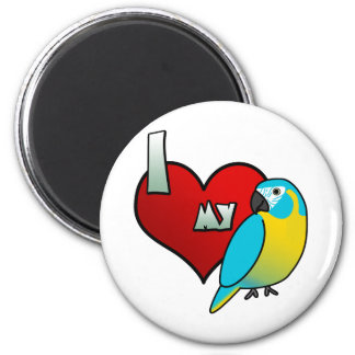 I Love my Blue Throated Macaw Fridge Magnet