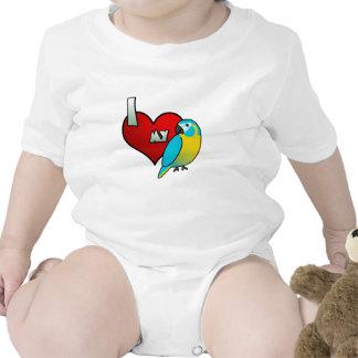 I Love my Blue Throated Macaw T Shirts