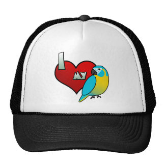 I Love my Blue Throated Macaw Trucker Hat