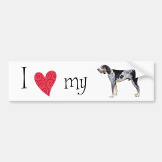 I Love my Bluetick Coonhound Bumper Sticker