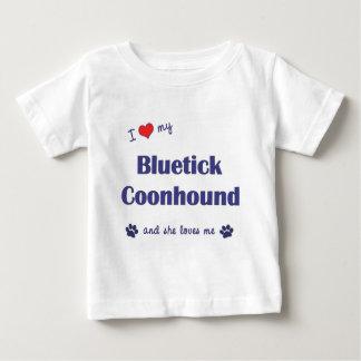 I Love My Bluetick Coonhound (Female Dog) Baby T-Shirt