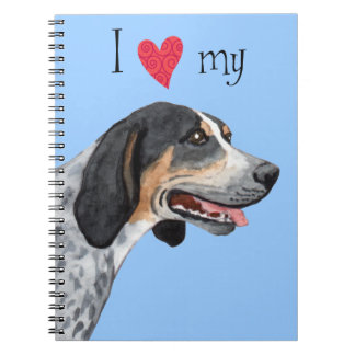 I Love my Bluetick Coonhound Notebook
