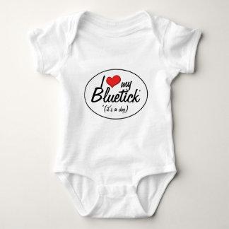 I Love My Bluetick (It's a Dog) Baby Bodysuit