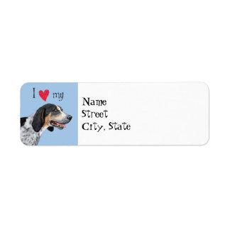 I Love my Bluetick Return Address Label