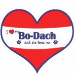 I Love My Bo-Dach (Female Dog) Photo Sculpture