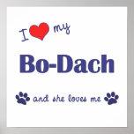 I Love My Bo-Dach (Female Dog) Poster