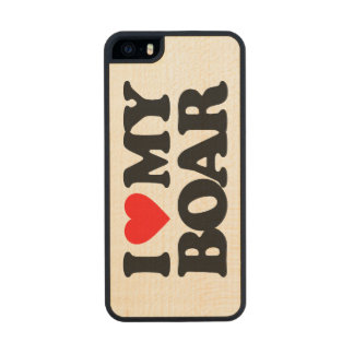 I LOVE MY BOAR CARVED® MAPLE iPhone 5 CASE