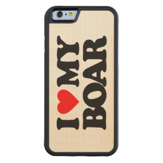 I LOVE MY BOAR CARVED® MAPLE iPhone 6 BUMPER CASE